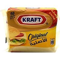 Kraft Original Cheese Slices, 10 Slices (Pack of 2) - 400g (2x200g)