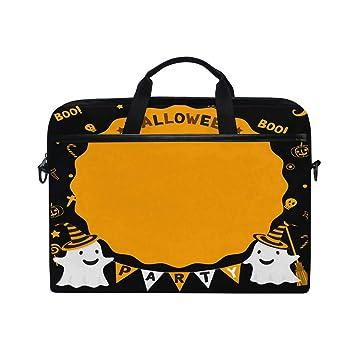 5317200fb40 Laptop Computer Bag Funny Halloween Notebook Shoulder Messenger Cases Packs  for Women Men (15-