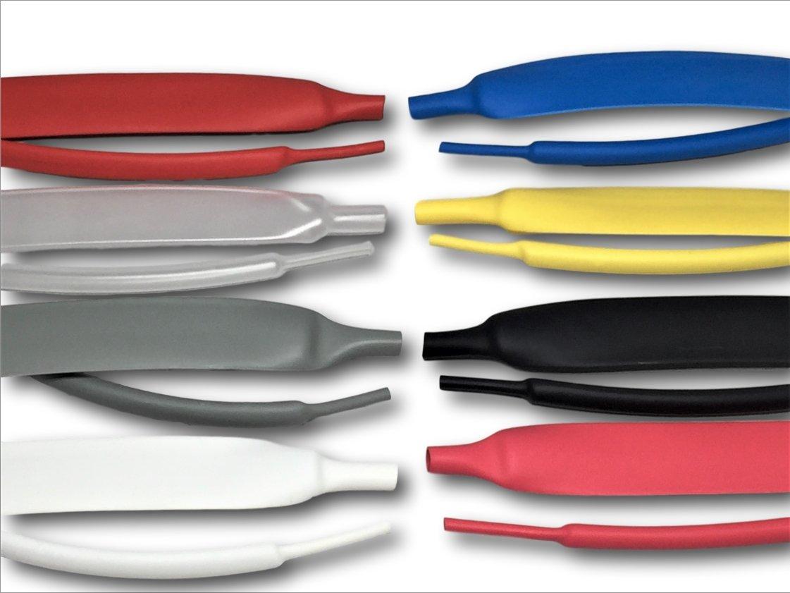 BD Schrumpfschlauch 2:1 3:1 4:1 2:1-1,2mm, blau mit//ohne Kleber verschiedene Farben