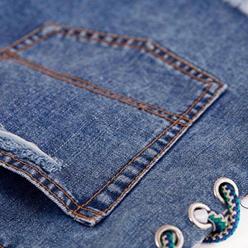 OcAuWerE Womens Casual Lace-up Tassel High Waist Denim Short Jeans by OcAuWerE (Image #4)