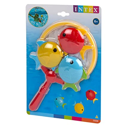 Intex - Set de pesca infantil con red de mano y 3 peces (55506): Amazon.es: Juguetes y juegos