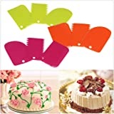 Baking Tools,FTXJ Useful Dough Cake Plastic Scraper Cutter Chopper Jagged
