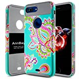 iPhone 8 Plus Case,AnnBay Dual Layer High Impact Scratch Resistant Hybrid Heavy Duty Full Body Protective Shock Absorption Girl Floral Flower TPU Soft Silicone Cover Apple case(5.5 Inch) (Grey)