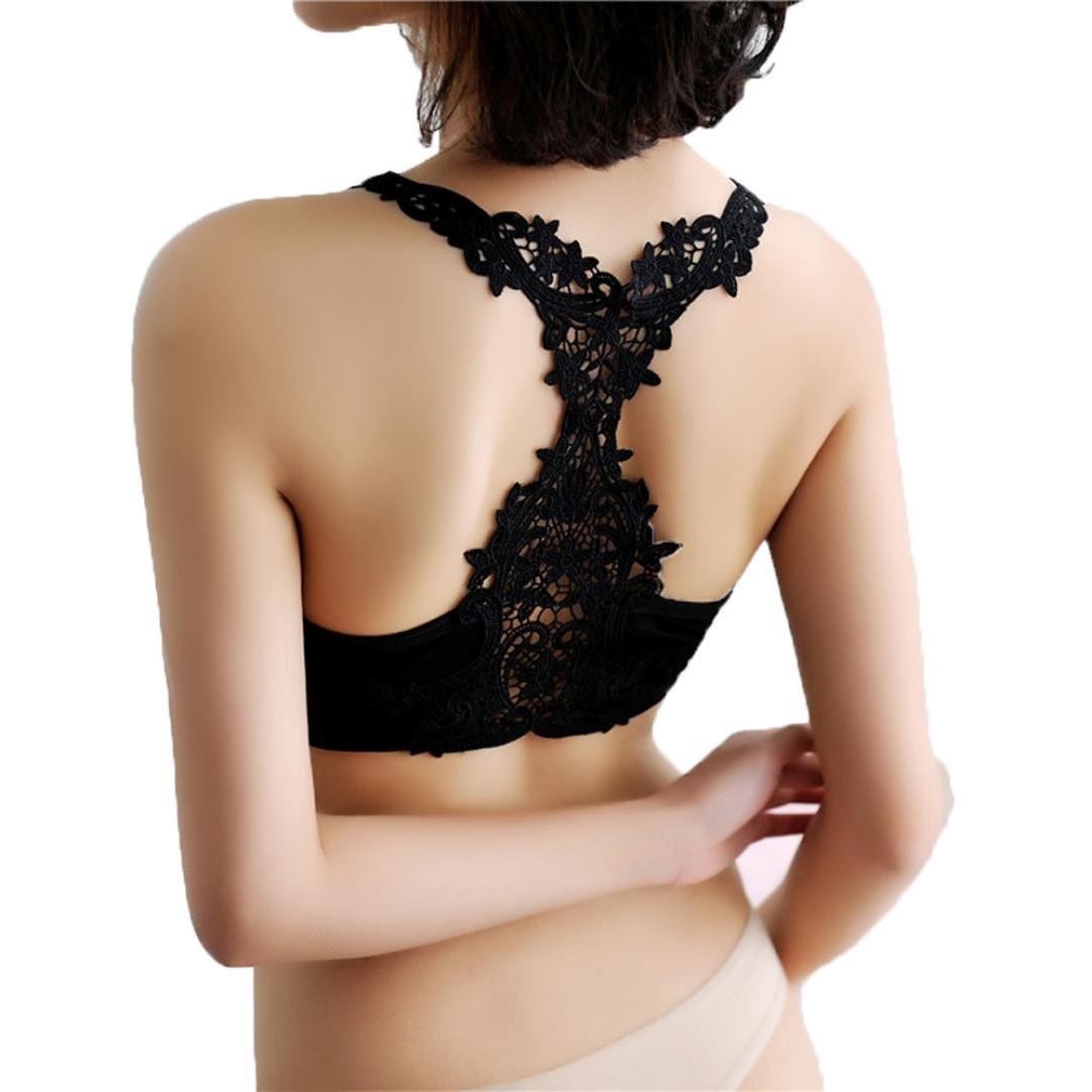 DATEWORK Women Sports Yoga Lace Wrap Chest Strap Vest Bra