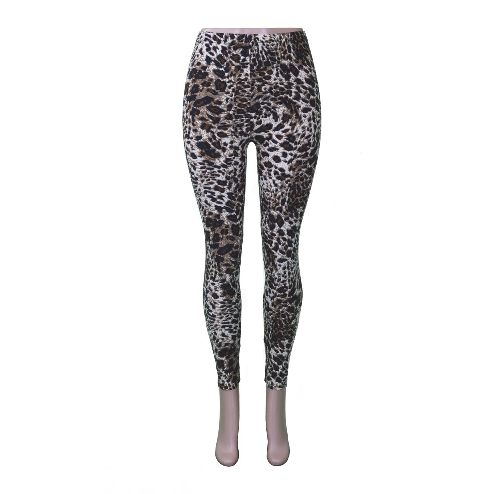 Pop Fashion Womens Cute Printed Leggings Footless Full Length Tights Ankle Pants (One Size, Leopard 2)
