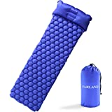 FARLAND Ultralight Air Sleeping Pad - Inflatable with Pillow Camping Mat Waterproof Anti-Slip for Backpacking, Traveling and Hiking Air Cell Design
