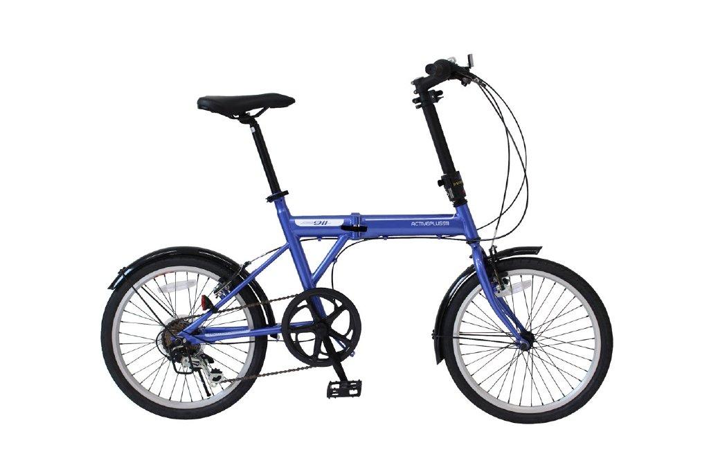 ACTIVEPLUS911 ノーパンクFDB206SF/ノーパンク20インチ折畳自転車 6段ギア MG-G206NF-BL B07B1V2CQW