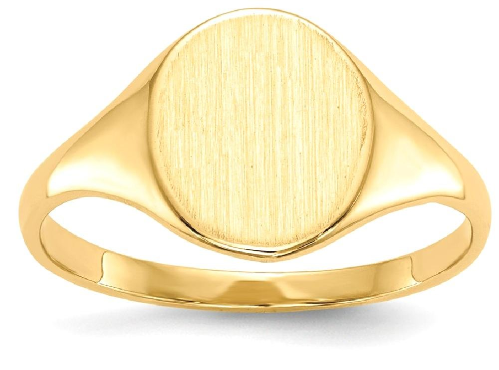 IceCarats 14k Yellow Gold Signet Band Ring Size 5.50