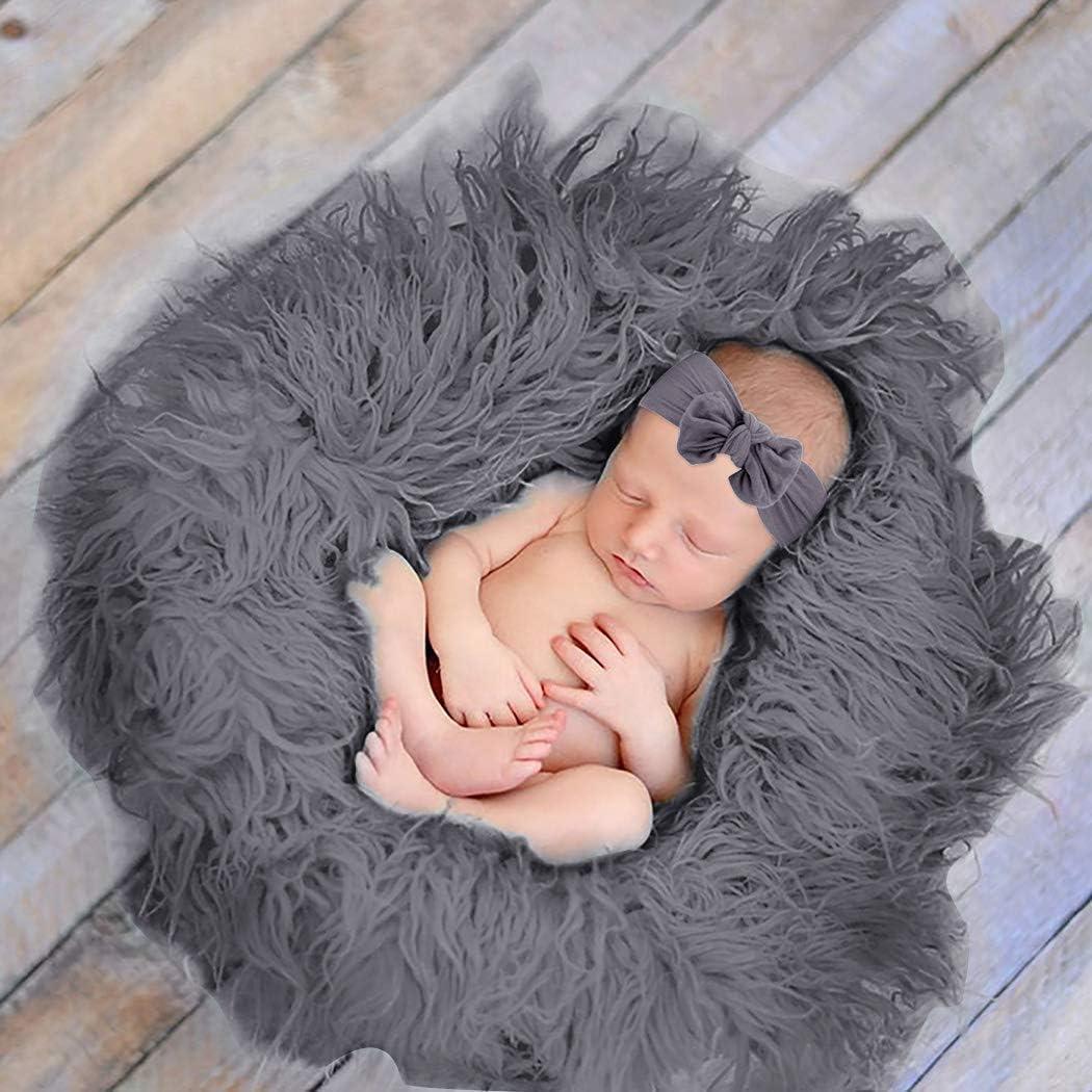 Aniwon 3 St/ück Neugeborene Foto Prop Kreativ Sanft Wickelwickel Decke Erhalten Fotografie Mat Baby Stirnband