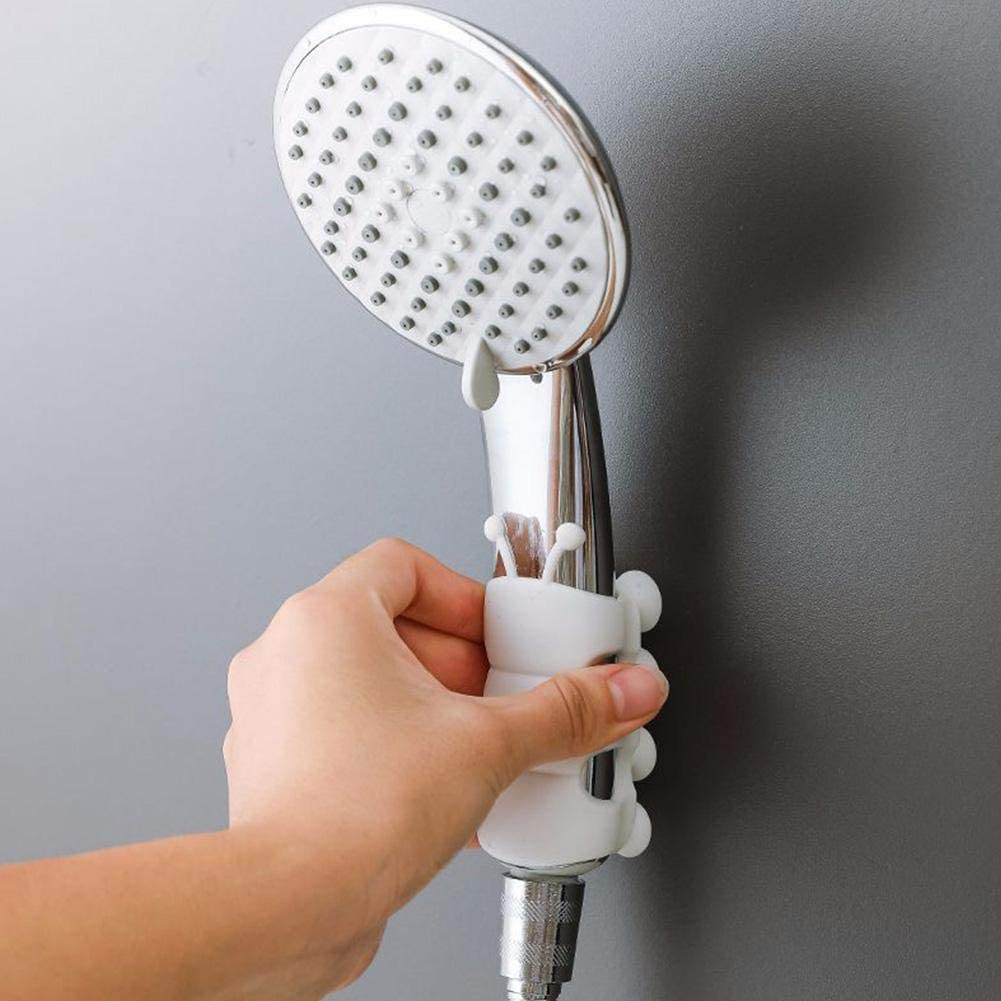 Reusable Silicone Shower Head Holder Durable Suction Shower Bracket Bathroom New