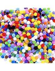 1000 stuks 10mm Pom Poms Cheerleading ballen voor ambachten maken,Hobbybenodigdheden en DIY creatieve ambachten decoraties,diverse gemengde kleur zachte flutty Mini Pom Poms voor kinderen kunst
