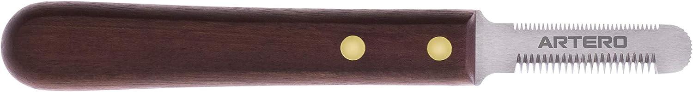 navaja de madera para stripping, dientes finos y estrechos marca artero