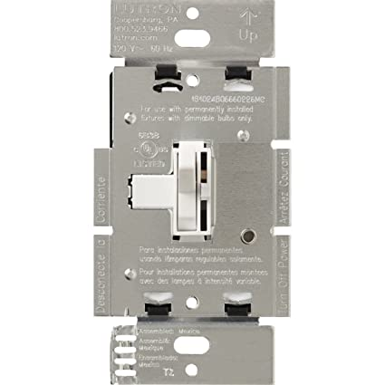 Lutron Toggler 1000-Dimmer Switch for 3-Wire Floursecent, Single ...