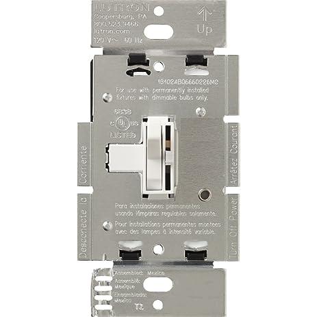 Lutron AY-603P-WH Ariadni 600-watt 3-Way Dimmer, White - Wall ...