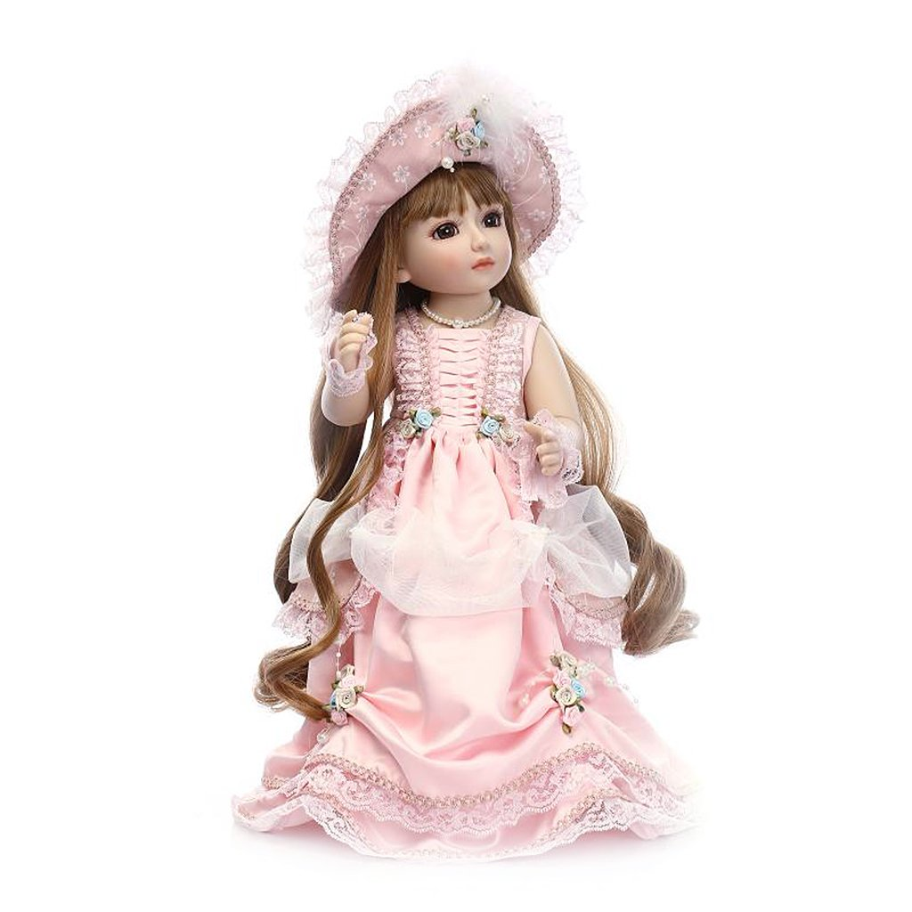 Junlinto, 45cm 18inch 18inch 18inch Schöne Prinzessin Lolita Kleid Hut Mädchen Spielzeug Geschenke Vintage 2e7e27