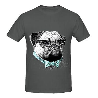 Señor Pug con gafas de sol lindo perro lleva una corbata para ...