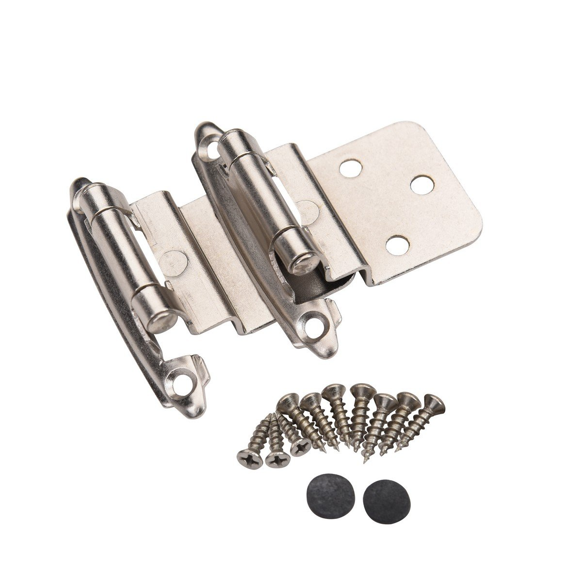 East West Consolidated 62726 Self Closing 3/8 inch Offset Inset Cabinet Hinges Satin Nickel SN (Pack Of 25 Pair)
