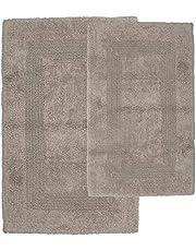 Lavish Home 2 Piece 100% Cotton Reversible Rug Set