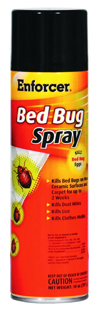 Enforcer 1043287 Bed Bug Spray for Bed BUGS/Dust Mites/Lice/Moths, 14 oz Aerosol, 14 Ounces, 1'' Height, 1'' width (Pack of 12) by Enforcer (Image #2)