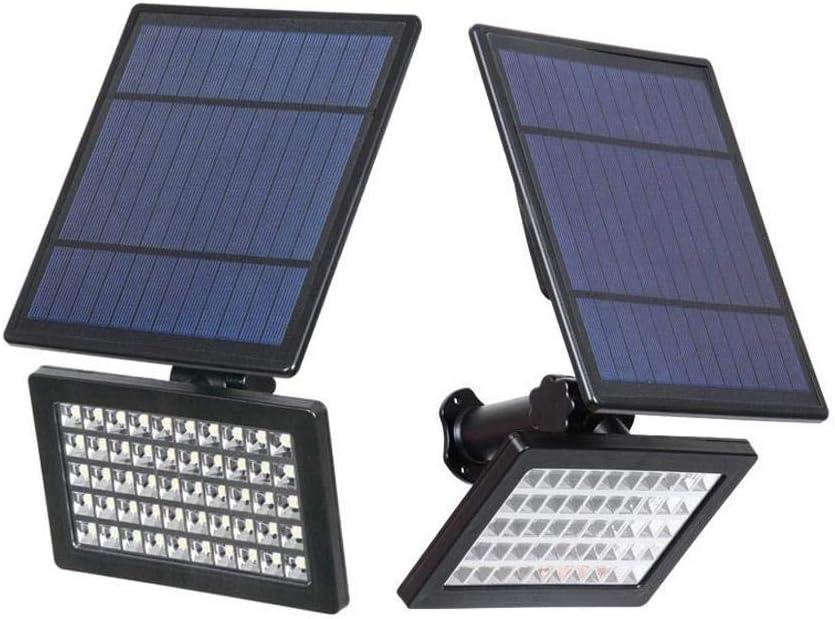 Dekorative Garten Innenhof Lichter 50 LED-Scheinwerfer 5W Solar Power Wasserdichte Landschaftswand-Sicherheits-Licht for Outdoor-Garten Rasen, Beleuchtung dljyy (Color : Warm White) Warm White