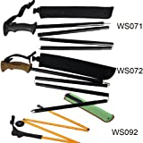 Aventik Best Quality Fold-able Wading Staff Water Depth Safety Warning Sign, Coated Adjustable Stainless Steel Core, T7075 Aluminum Body Corrosion Resistance fly fishing wadiding staff