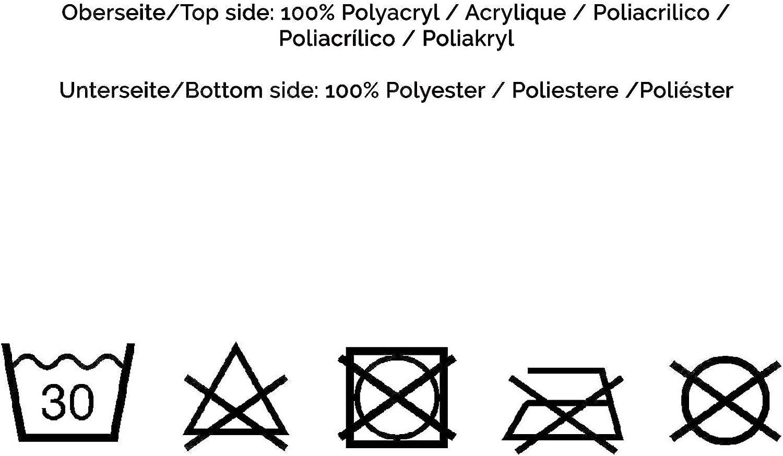 Design r/éversible ZOLLNER Couverture caline Aspect Agneau Pelage et Cordage