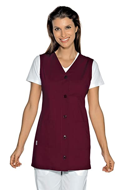 Isacco-túnica médica Tropea sin Mango, Color Burdeos: Amazon.es: Ropa y accesorios
