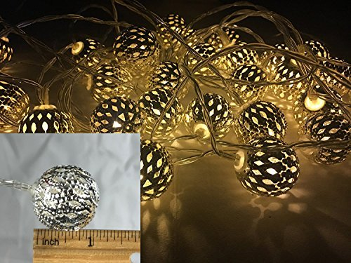 String Fairy LED Globe Decorative Lights Battery Operated Powered with Timer Dimmer Remote Control 18ft 8 Different Modes for Bedroom, Indoor, Outdoor, Curtain, Christmas, Holidays, Warm White Minimal Effort Christmas Lights