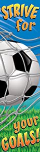 Eureka Soccer Motivational Banner, Measures 45 x 12, Great for Classrooms, Kids Rooms, Parties & More