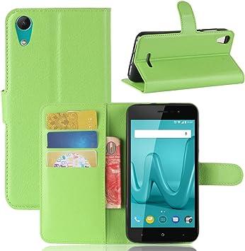 Guran® Funda de Cuero PU para Wiko Lenny 4 Smartphone ...