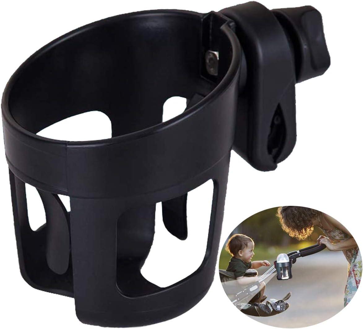 GeeRic Porte-gobelet pour Poussette avec Support pour T/él/éphone Universel pour Poussette//Landau Porte-gobelet R/églable Organisateur de Biberon