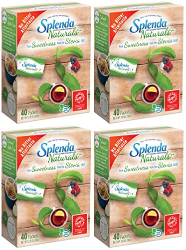 (Splenda No Calorie Sweetener Naturals Made with Stevia Extract, Packets 2.8 oz(Pack Of 4))