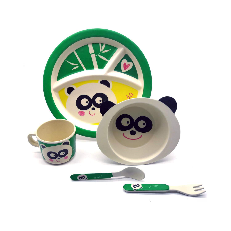 6 Mois Services de Fourchette pour Enfant Couverts Table Set de Vaisselle Bambou Multicolore Motif Voiture 100/% /écologique Repas Assiette Plaque Bol Gobelet Cuill/ère et Fouchette