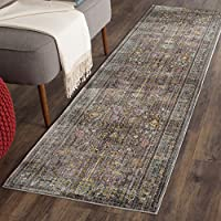 Safavieh Valencia Collection VAL108C Grey and Multi Vintage Distressed Silky Polyester Runner Rug (23 x 12)