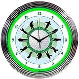 Neonetics Golf Neon Wall Clock, 15-Inch