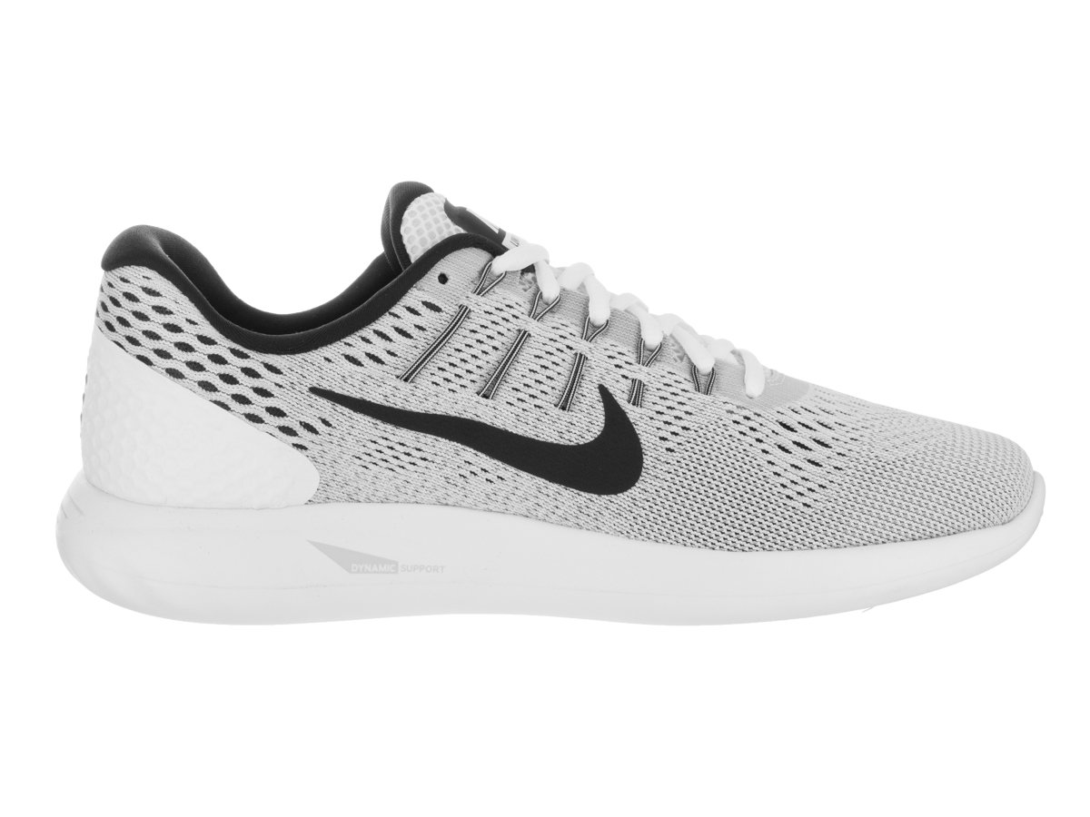 Nike Men's Lunarglide 8 Running Shoe White/Black/Wolf Grey 10