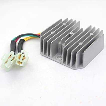 amazon com: wingsmoto voltage regulator rectifier 6 wires gy6 50 150cc  scooter chinese moped sunl jcl: automotive