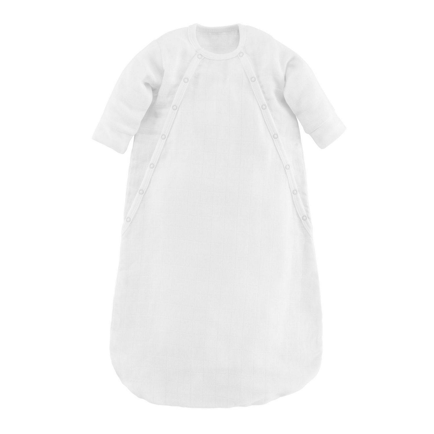 Under the Nile Baby Muslin Bunting Organic Cotton (White, 0-3 Months)