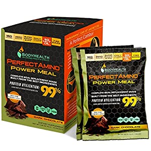 PerfectAmino Power Meal To-Go Packets, With MCT Oil, Carb 10, and Perfect Amino Protein base, 10 Packets