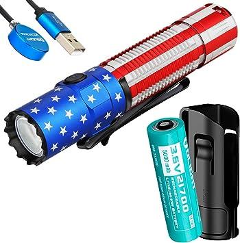 Olight M2R Pro Warrior DEL Lampe de poche patriotique édition limitée