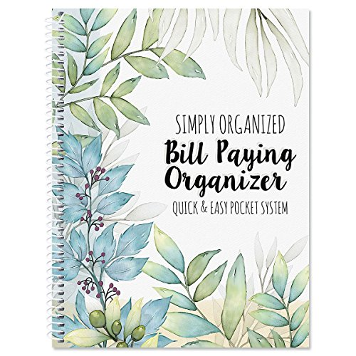 The Best Days Bill Paying Organizer- Softcover, Spiral Bound; Includes 14 Pocket Pages, 32 Label Stickers (Bill Pocket Organizer)