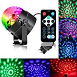 Disco Ball Strobe Light Party Lights Disco Lights Karaoke Machine 3W Dj Light LED Portable 7Colors Sound Activated Stage Lights for Festival Bar Club Party Outdoor (with Remote and Microphone)