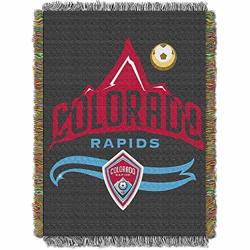 (MLS Colorado Rapids Handmade Woven Tapestry Throw, 48