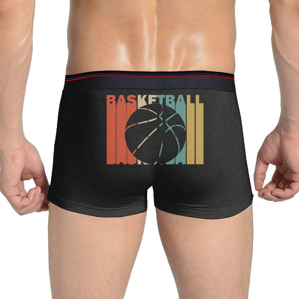 Ultimate Retro Style Basketball Silhouette Under Drawers Mens Cotton Underwear