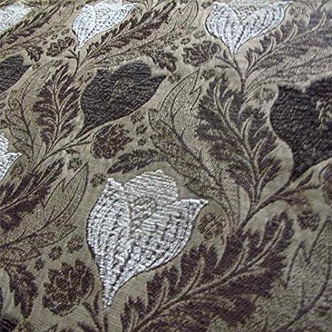 Loome Berkeley turba Floral: blanco, marrón y beige flat-weave tapicería