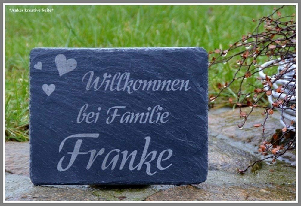 Gr/ö/ßen Namensschild T/ürschild Familie Schiefer Gravur Haust/ürschild versch