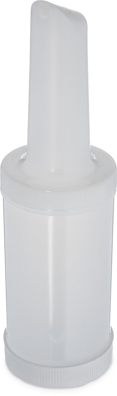 "Carlisle PS601NC02 PourPlus Store 'n Pour Polyethylene Complete Unit, 32 oz. Capacity, 3-1/2 x 13.15"", White (Case of 12)"