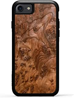 product image for Carved iPhone 8 Case/iPhone 7 Case Redwood Burl Wood Traveler Case, Unique Real Wooden Phone Cover (Rubber Bumper, Fits Apple iPhone 8, Fits Apple iPhone 7)