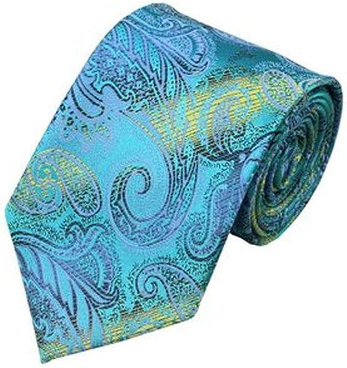 Jason&Vogue - Corbata - Paisley - para hombre azul turquesa Talla ...