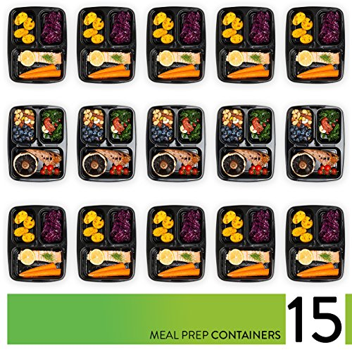 Meal-Prep-Containers-3-Compartment-Food-Storage-Containers-with-Lids-35-Heavier-More-Durable-Plastic-Thick-BPA-Free-Reusable-Bento-Lunch-Box-for-Portion-Control-21-Day-Fix-15-Pack